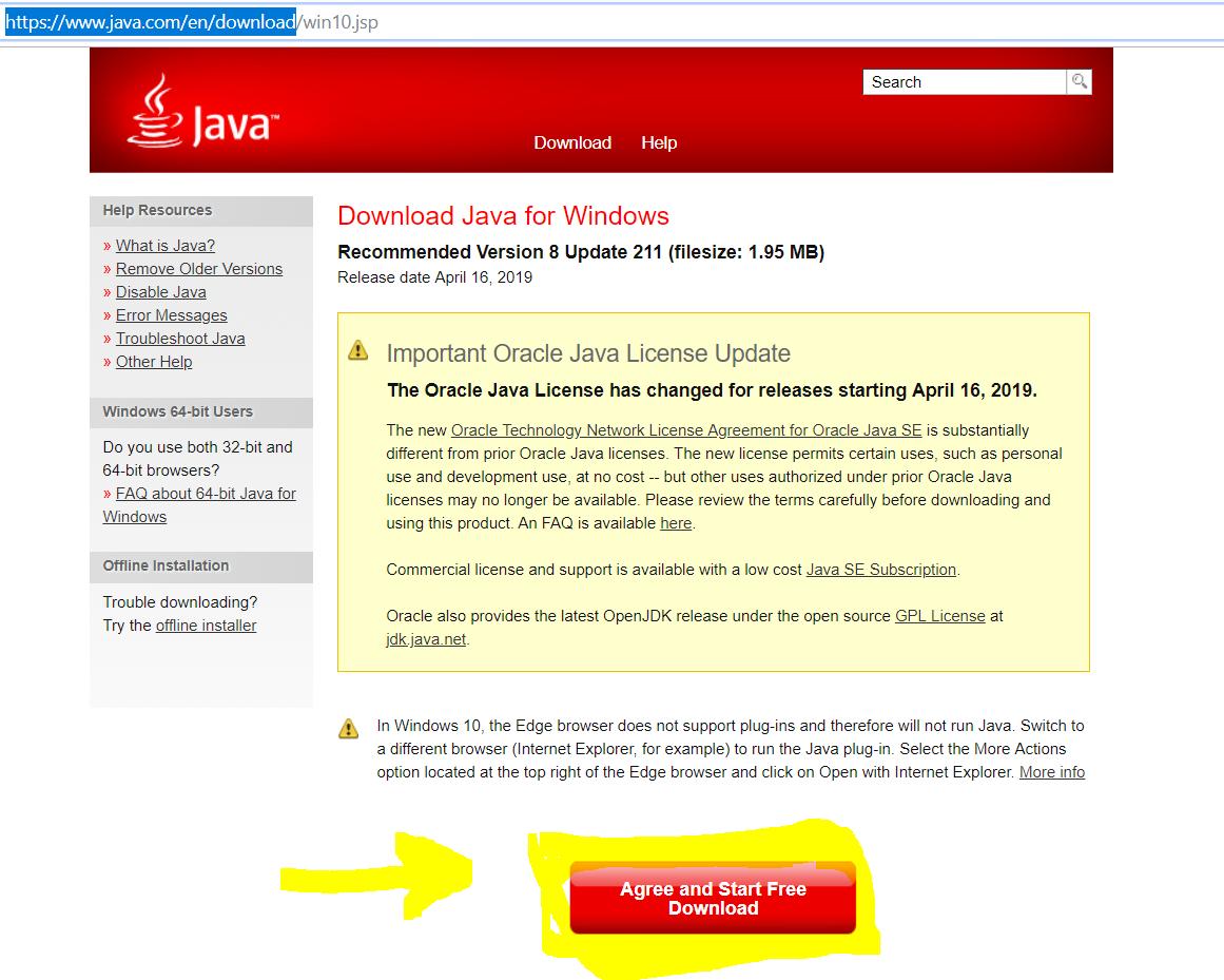 Download Java Windows