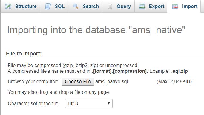 Import Database Sistem Surat