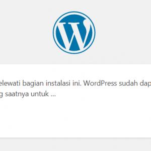 setting-database-wordpress-berhasil