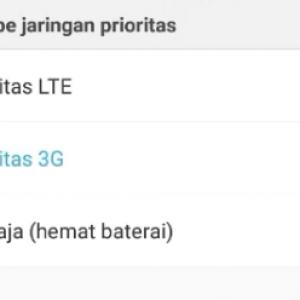 Pilih Jaringan Prioritas ke LTE