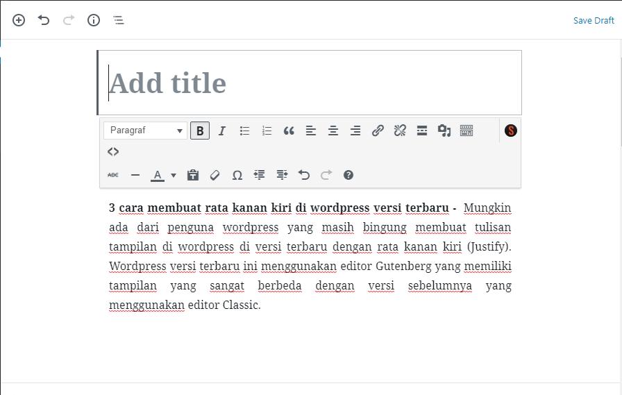ambar 3. wordpress editor classic
