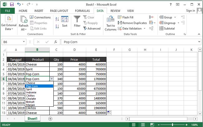 tentang Cara Membuat Dropdown List di Excel dengan Mudah dan Cepat
