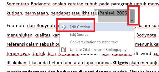 edit cication