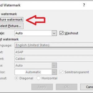 mengganti watermark gamabr atau logo