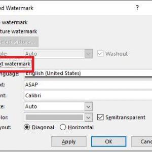 mengganti watermark tulisan