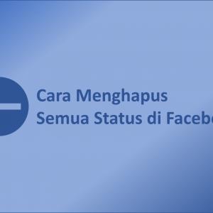 Menghapus Semua Status di Facebook