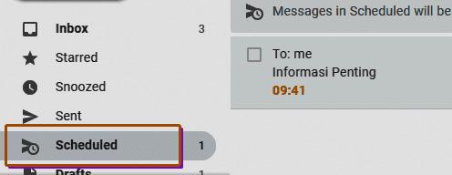Kirim Gmail Terjadwal