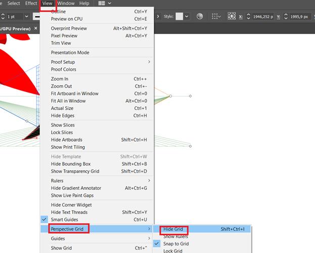 Menghilangkan Perspektif Grid Tool Di Adobe Illustrator CC